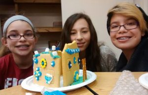 making Hanukkah gingerbread houses